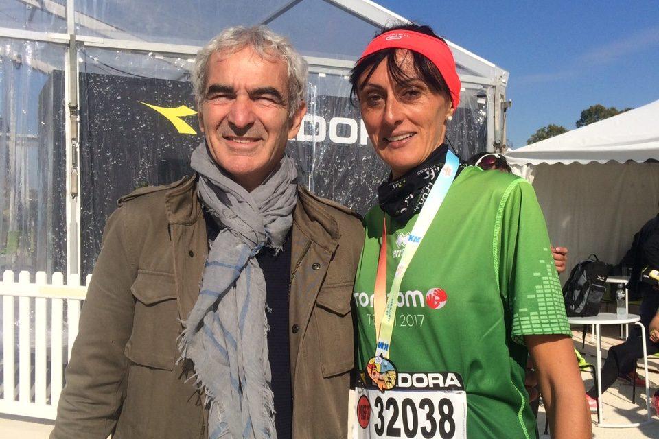 Remise des pendules à l'heure avec la Team TomTom sur les  20 kilomètres de Paris