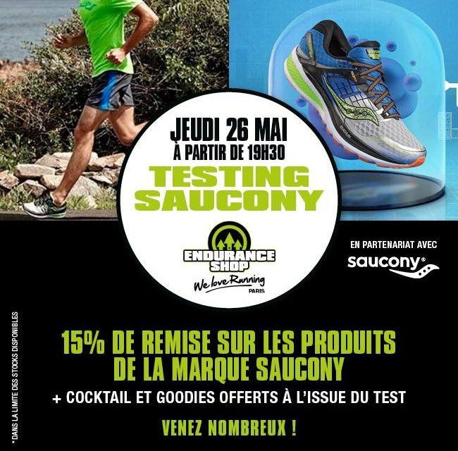 Une recette réussie pour la soirée testing Saucony chez Endurance Shop Paris
