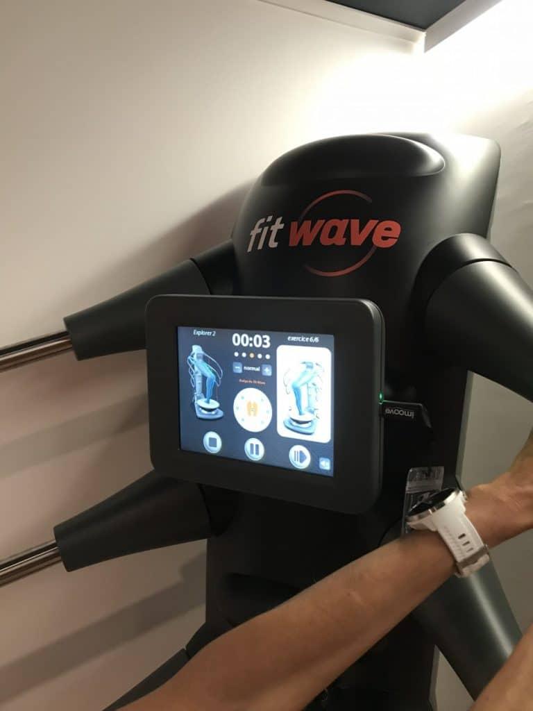 Écran interactif de l'appareil de sport Fitwave