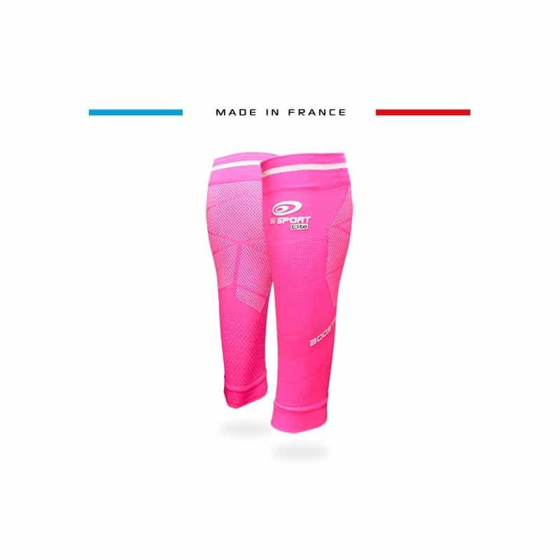 Image des nouveaux manchons de compression BV SPORT dans le coloris rose