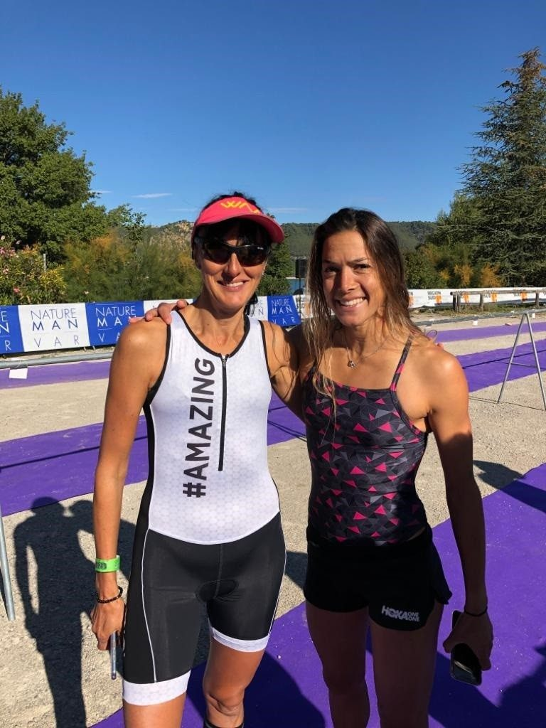 La Bee avec Charlotte Morel, championne de France de triathlon.