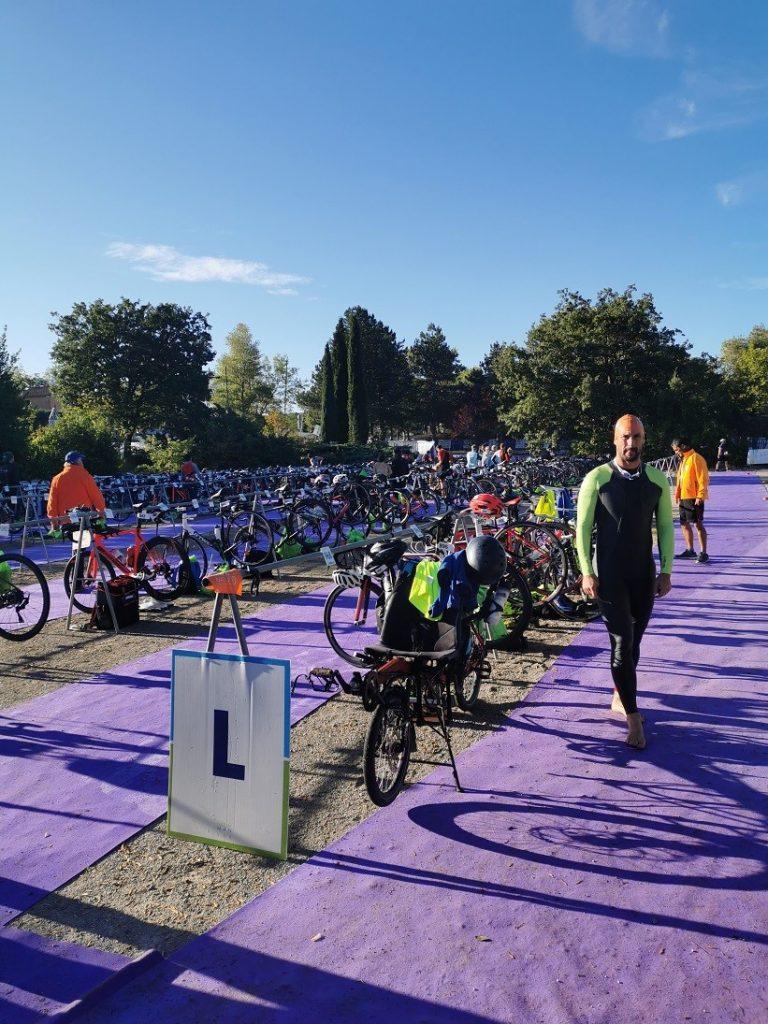 Le parc à vélos du Natureman