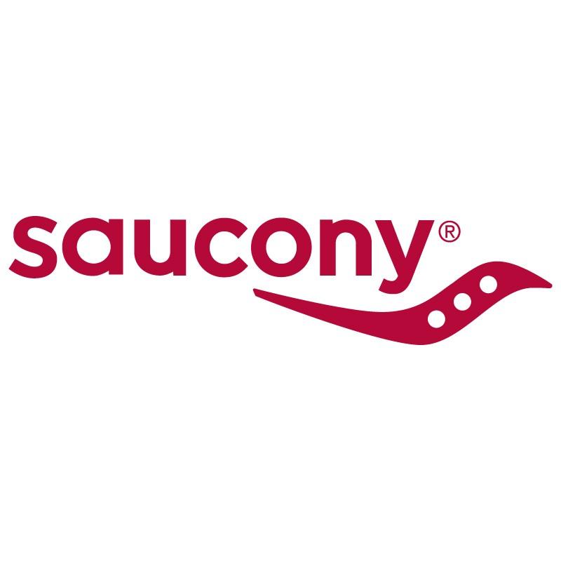 Logo de la marque Saucony représentant le fleuve et les rochers