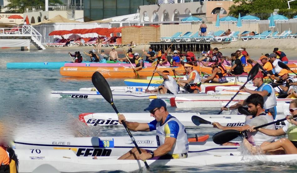 Départ d'une course de kayak