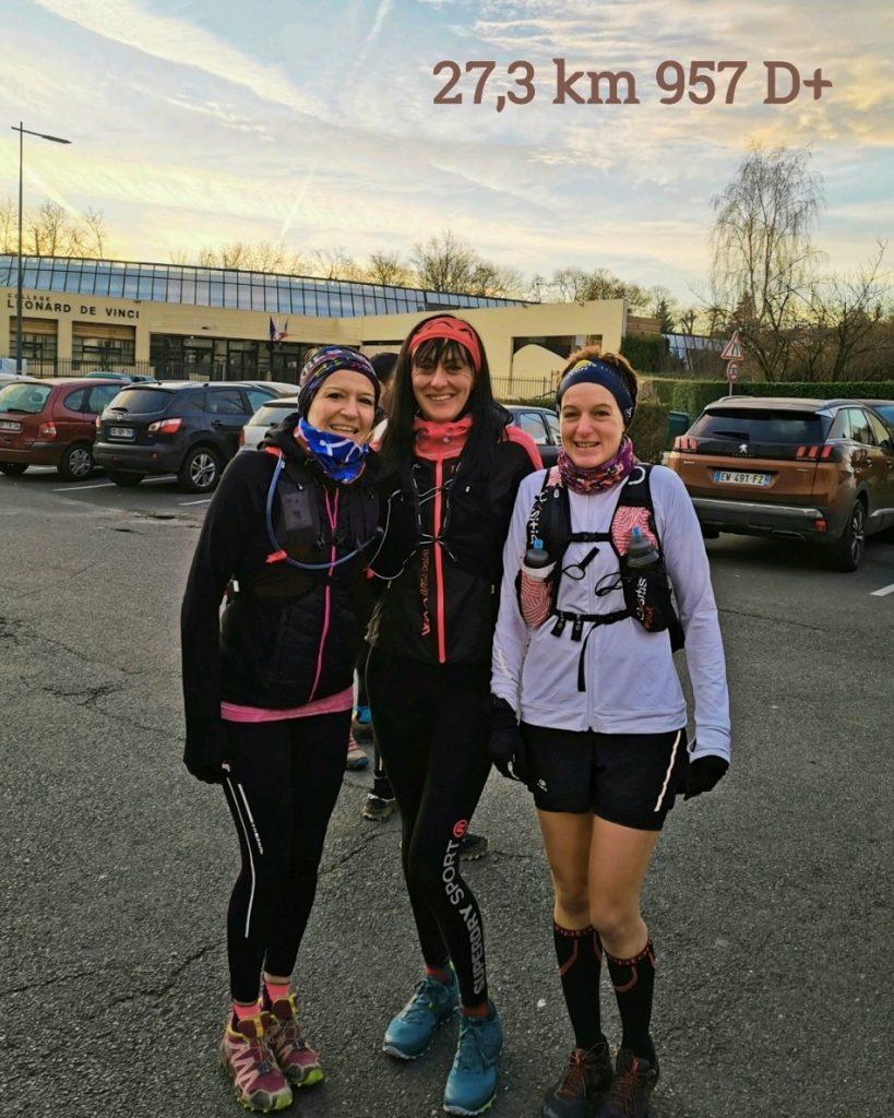 Photo avec les copines avant le reconnaissance du parcours du Maxicross de Bouffémont
