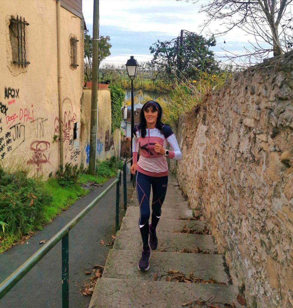 Run et séries d'escaliers à Conflans-Sainte-Honorine