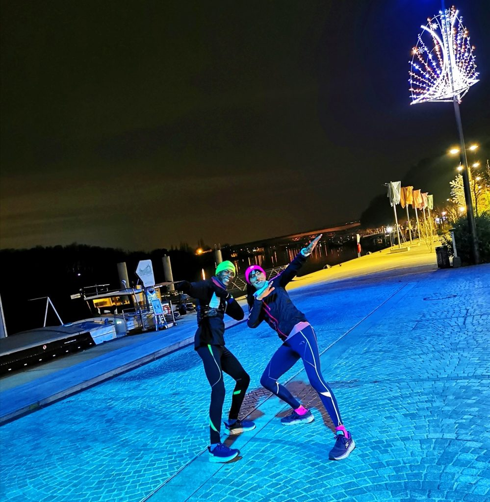 Run de nuit avec Samba sur les quais de Conflans-Sainte-Honorine