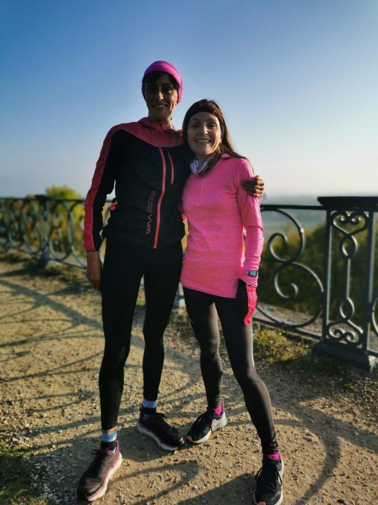 Run avec mon amie Steph sur la terrasse du château de Saint-Germain-en-Laye